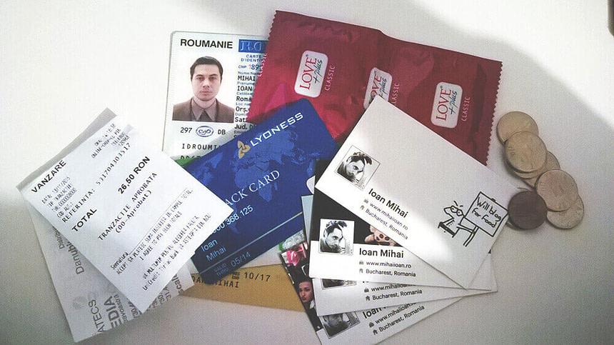 Portofel de blogger