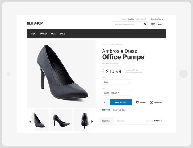 Platforma ecommerce - Blugento