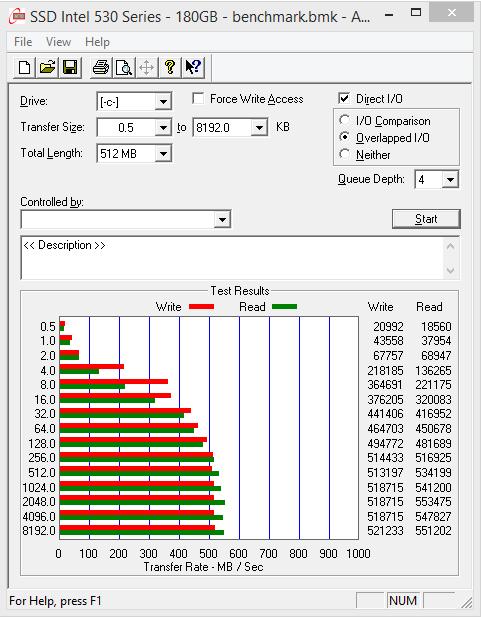 SSD Intel 530 Series 180 GB - benchmark