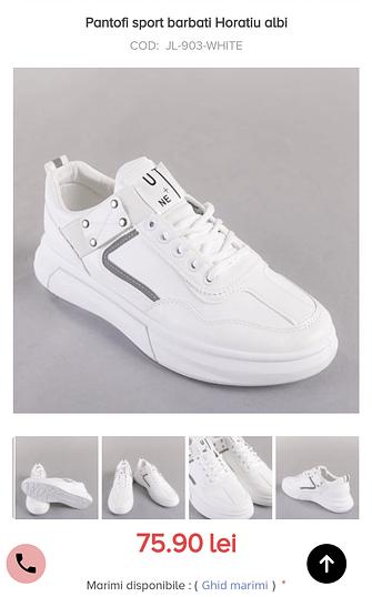 Pantofi sport horatiu albi