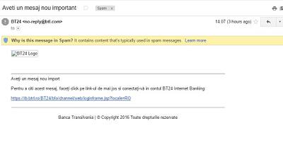presupusul email venit de la bt24