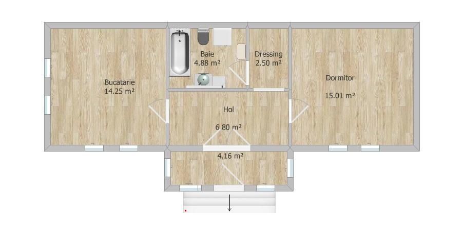 Plan casa - layout cu baie