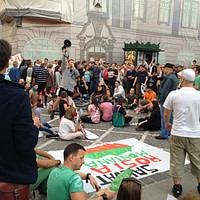 Roland Vezeteu - Protest pentru Rosia Montana (Brasov)